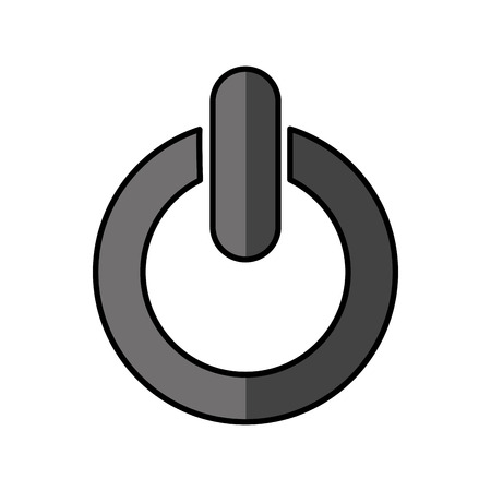 power button symbol isolated icon vector illustration design