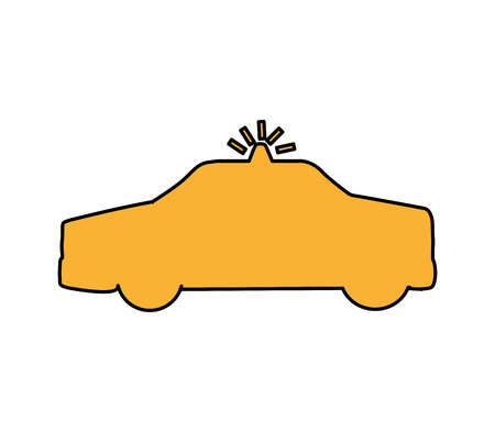 patrol vehicle silhouette isolated icon vector illustration design