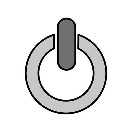 Botón de encendido símbolo icono aislado diseño ilustración vectorial