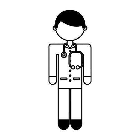 doctor avatar character icon vector illustration design Illustration