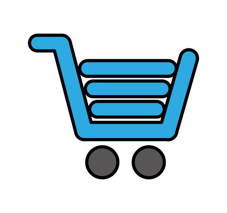 shopping cart commercial icon vector illustration design 스톡 콘텐츠 - 120987173