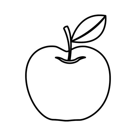 apple fresh fruit isolated icon vector illustration design