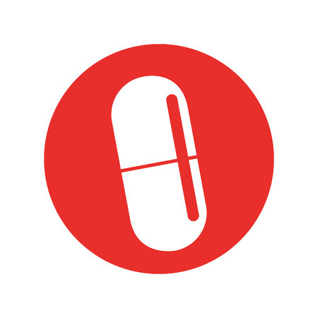 capsule medical isolated icon vector illustration design