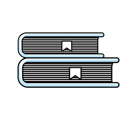 text book library isolated icon vector illustration design Ilustracja