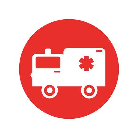ambulance medical vehicle icon vector illustration design Illustration