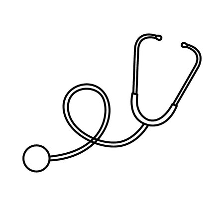 stethoscope medical device icon vector illustration design Illustration