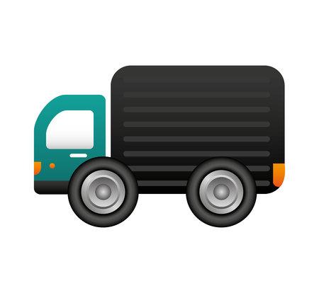 truck vehicle delivery service vector illustration design 向量圖像