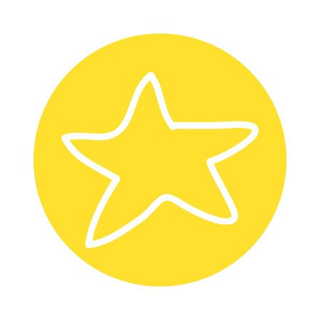 star decoration silhouette icon vector illustration design Ilustrace
