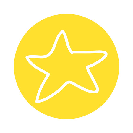 star decoration silhouette icon vector illustration design Illustration