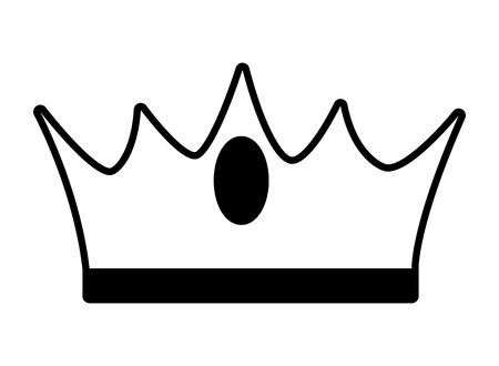 crown luxury icon on white background vector illustration Standard-Bild - 123388228