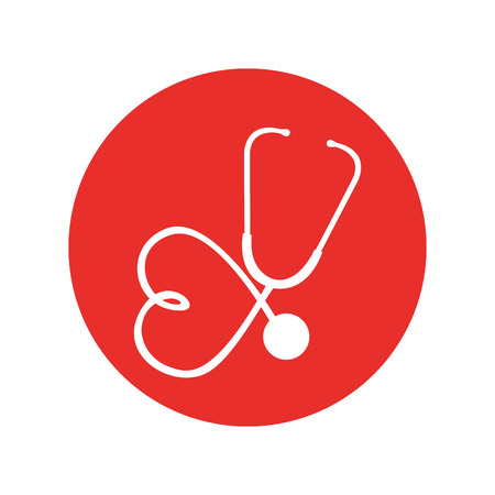 stethoscope medical device icon vector illustration design Illustration