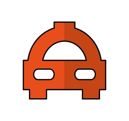 taxi car service isolated icon vector illustration design Standard-Bild - 123388283