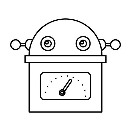 electric robot avatar character vector illustration design