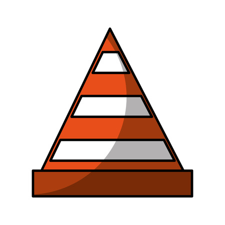 construction cone isolated icon vector illustration design  イラスト・ベクター素材