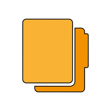 folder documents isolated icon vector illustration design Imagens - 121011353