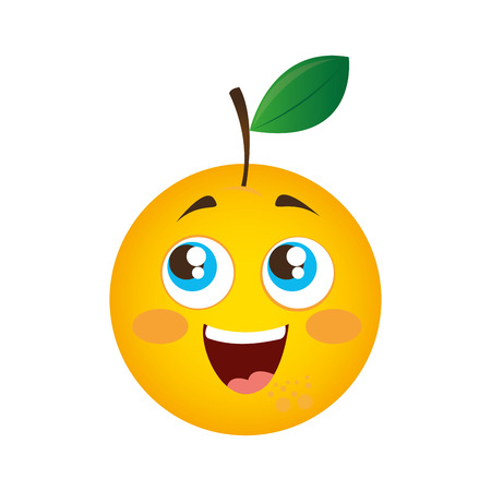 orange fresh fruit icon vector illustration design Stock Illustratie