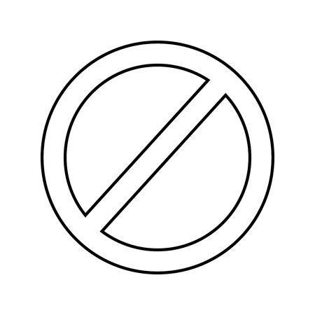 Signe d'interdiction conception d'illustration vectorielle icône isolé
