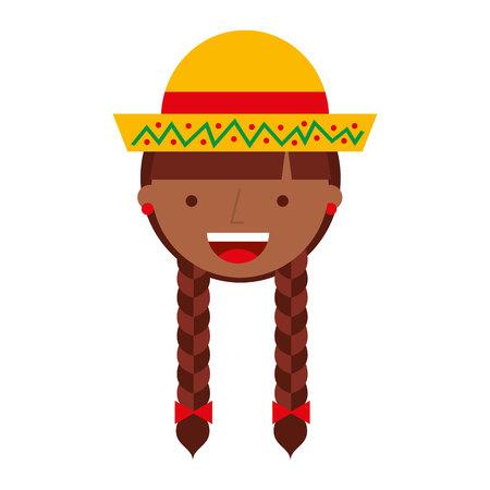 peasant woman avatar character vector illustration design Illustration