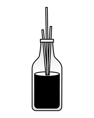 Aromatherapie-Sticks Spa-Behandlung-Therapie-Vektor-illustration