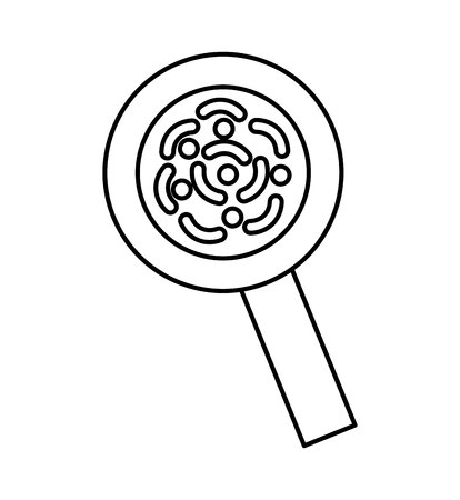 search magnifying glass isolated icon vector illustration design  イラスト・ベクター素材
