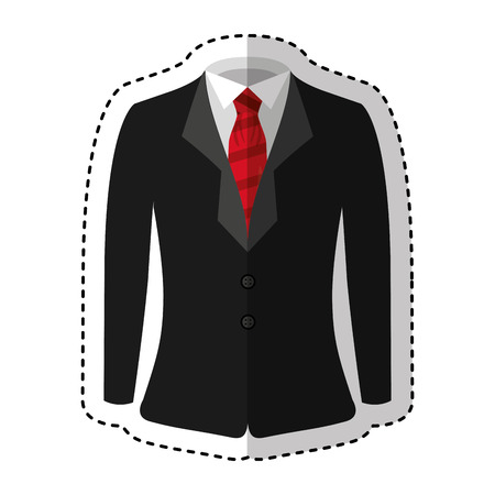 elegant gentleman suit icon vector illustration design