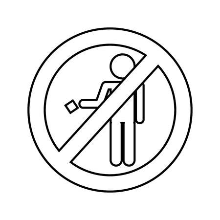 prohibition sign isolated icon vector illustration design