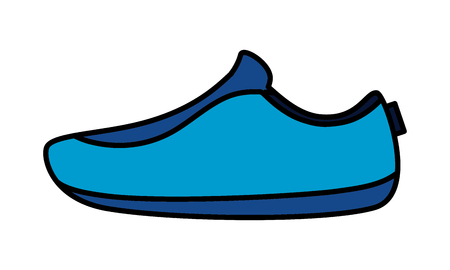 sport sneaker wear on white background vector illustration