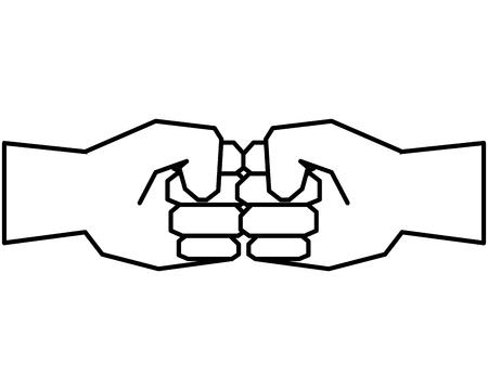 hands humans fist icons vector illustration design