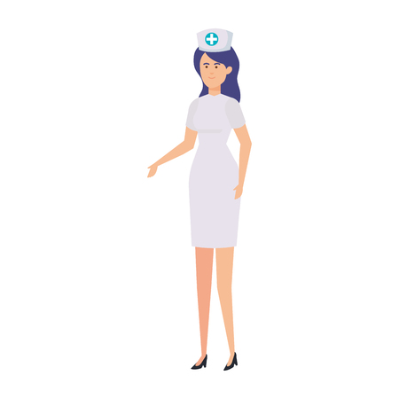 professional female nurse character vector illustration design Illustration