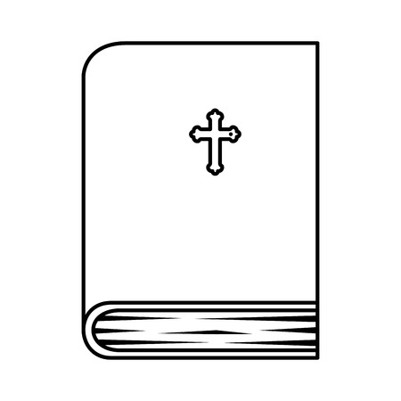 holy bible book icon vector illustration design Vettoriali