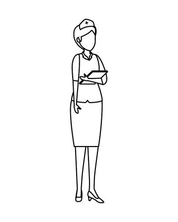professional female nurse character vector illustration design Stock Vector - 121005228