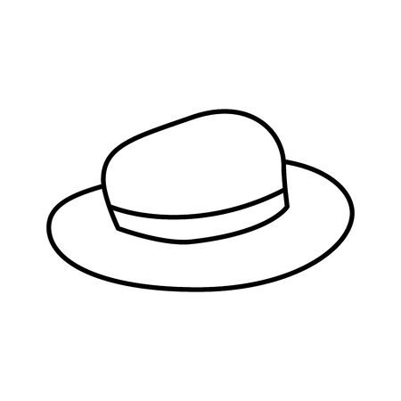 tourist hat isolated icon vector illustration design Stock Illustratie