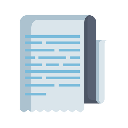 paper document isolated icon vector illustration design 向量圖像