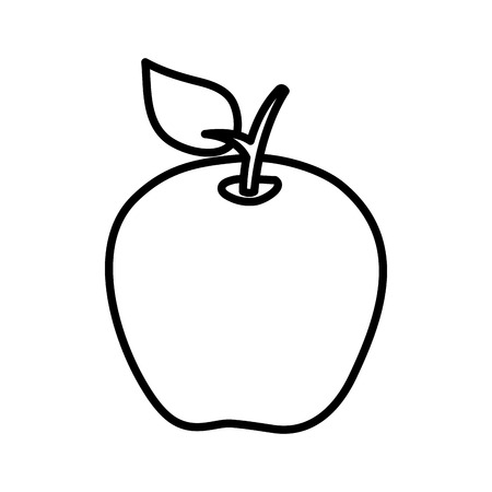 apple fresh fruit icon vector illustration design Illustration