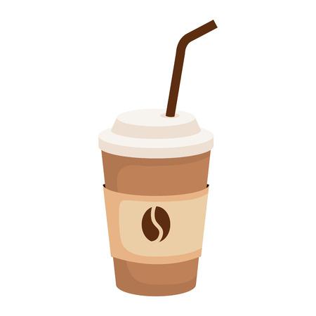 coffee drink in plastic container vector illustration design 版權商用圖片 - 121052348