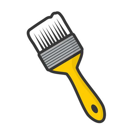 brush tool icon on white background vector illustration Vektorgrafik