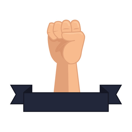 hand up fist icon vector illustration design Banco de Imagens - 123390107