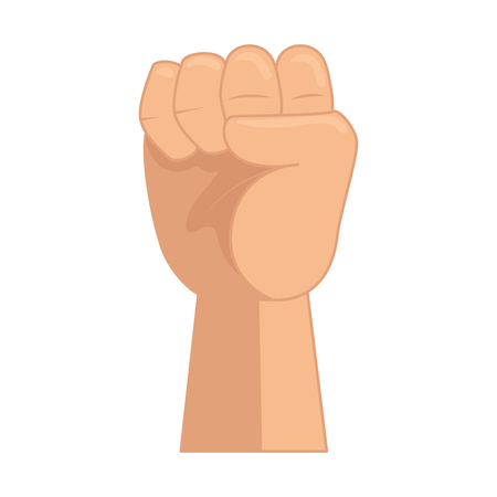 hand up fist icon vector illustration design