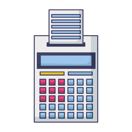 calculator printed receipt tax payment vector illustration