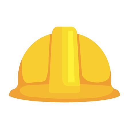 progettazione dell'illustrazione di vettore dell'icona di protezione del casco della costruzione Vettoriali