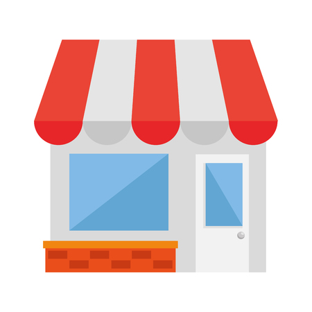 store building facade icon vector illustration design Archivio Fotografico - 121136835
