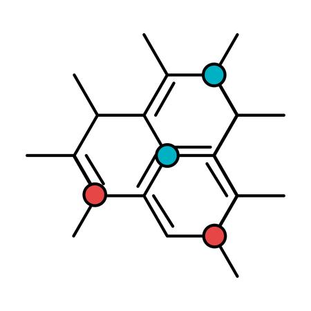 La science de la structure moléculaire de l'icône de la conception d'illustration vectorielle