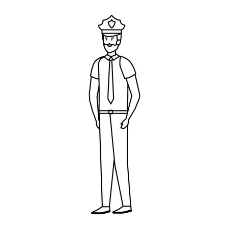 police officer avatar character vector illustration design