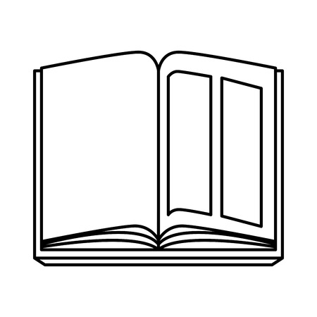 text book open icon vector illustration design