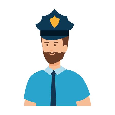 police officer avatar character vector illustration design Illustration