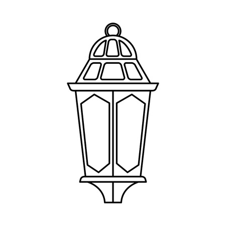 ramadam karem lamp hanging vector illustration design
