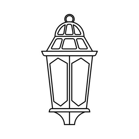 ramadam karem lampada appesa illustrazione vettoriale design Vettoriali