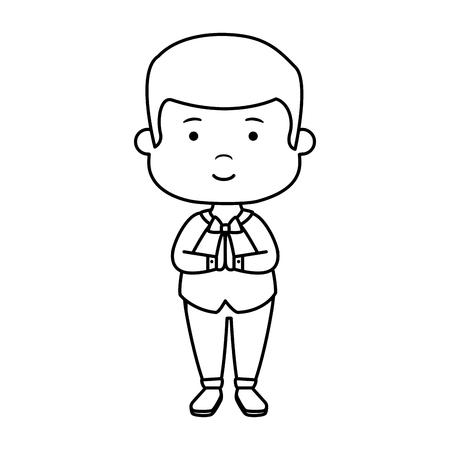 little boy first communion character vector illustration design Векторная Иллюстрация