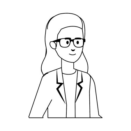 professional female doctor avatar character vector illustration design Stock Vector - 123349267