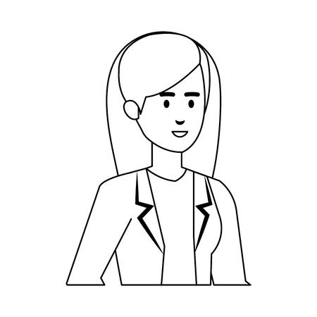 professional female doctor avatar character vector illustration design